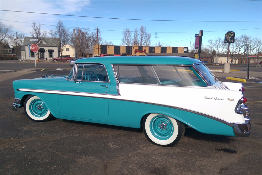 1956 CHEVROLET NOMAD WAGON - Rear 3/4 - 188989