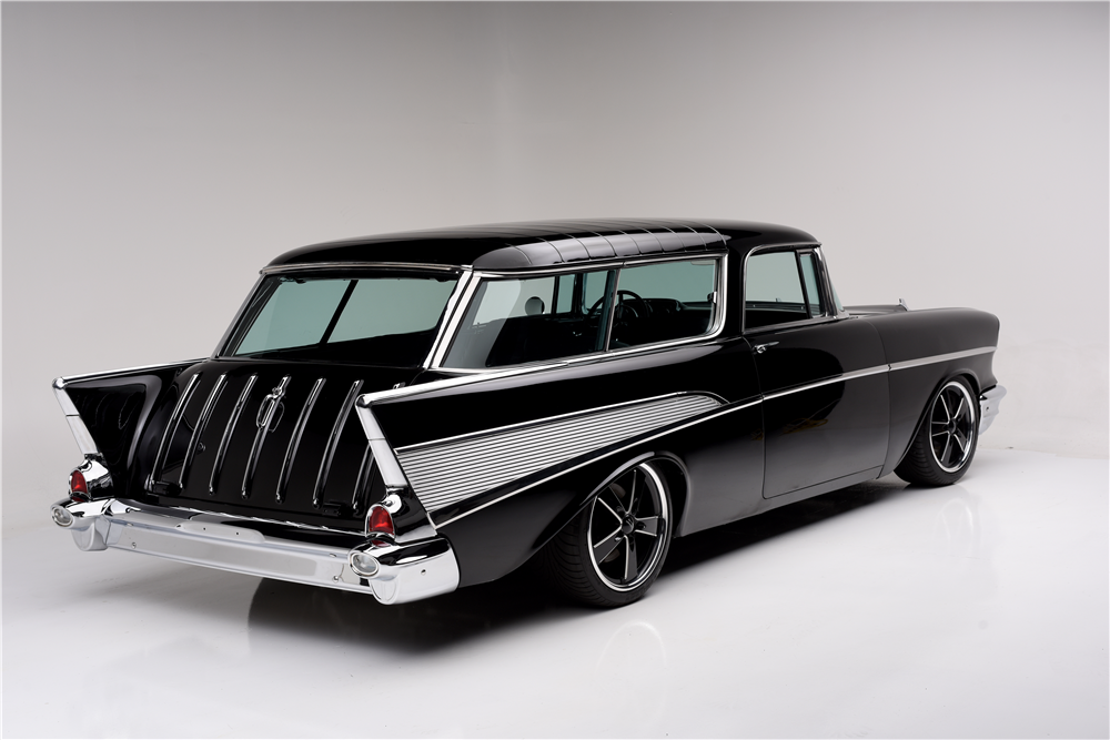 1957 CHEVROLET NOMAD CUSTOM WAGON - Rear 3/4 - 188995