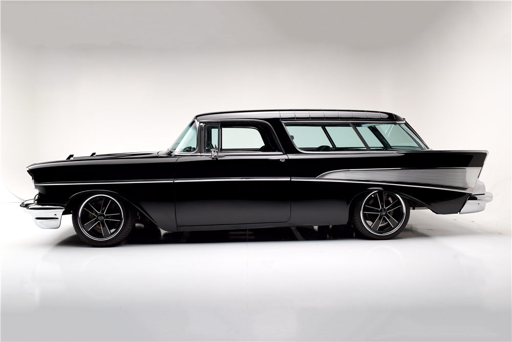 1957 CHEVROLET NOMAD CUSTOM WAGON - Side Profile - 188995