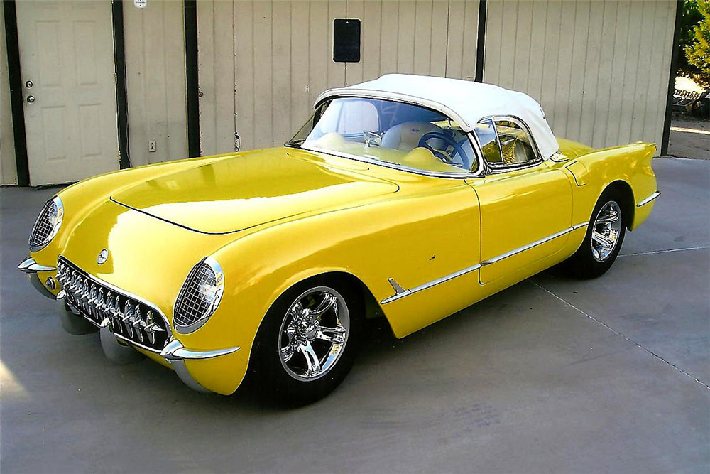 1954 CHEVROLET CORVETTE CUSTOM CONVERTIBLE - Side Profile - 188999