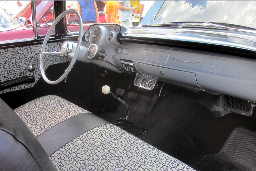 1957 CHEVROLET 150 CUSTOM 2-DOOR POST - Interior - 189002