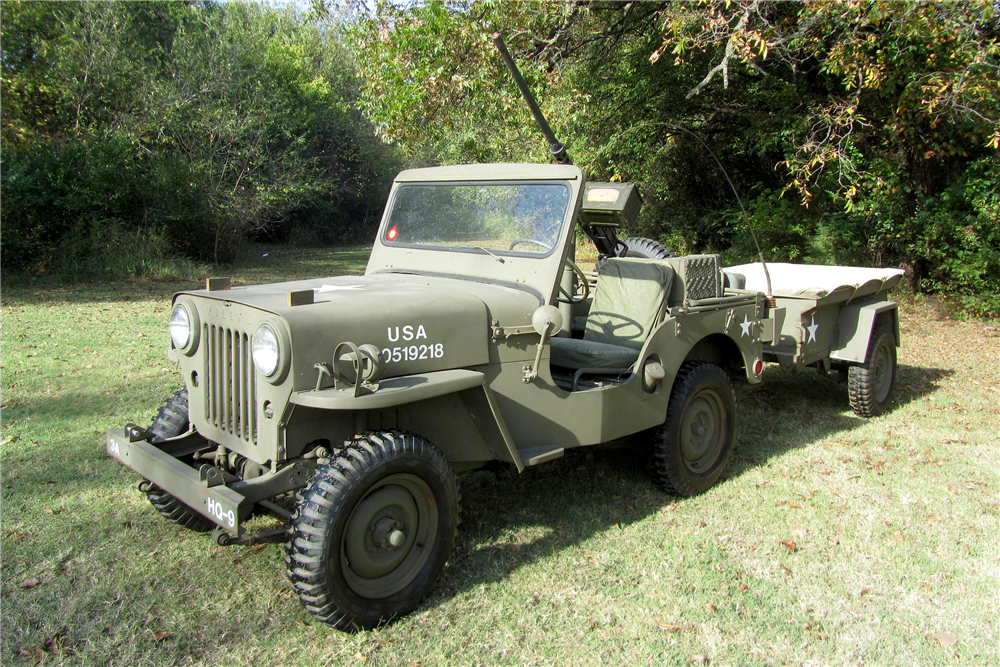 1952 WILLYS MILITARY JEEP  - Front 3/4 - 189006