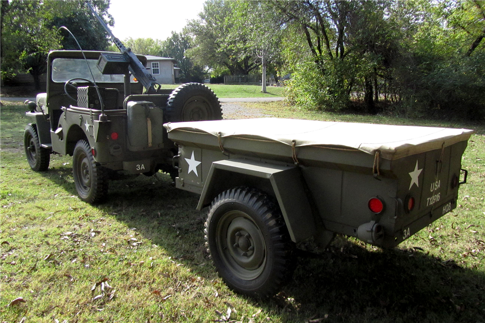 1952 WILLYS MILITARY JEEP  - Rear 3/4 - 189006