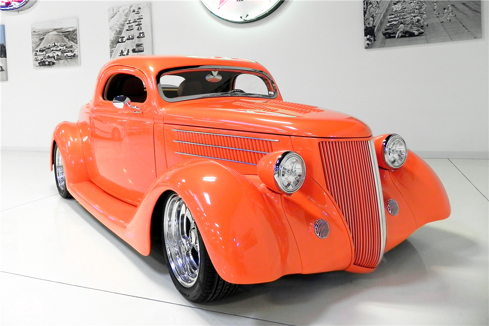 1936 FORD 3-WINDOW CUSTOM COUPE - Front 3/4 - 189009