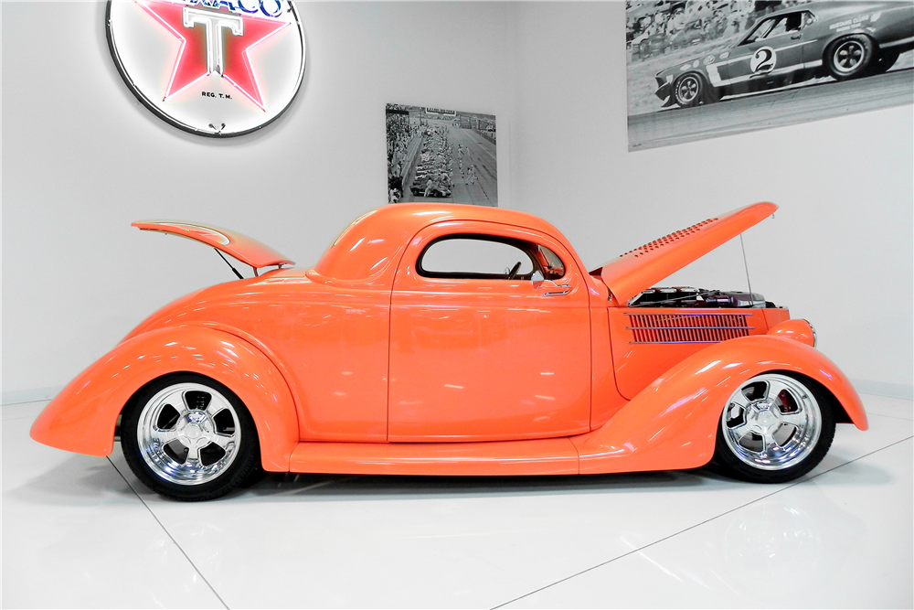 1936 FORD 3-WINDOW CUSTOM COUPE - Side Profile - 189009