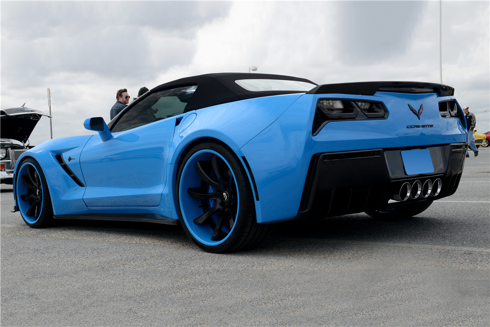 2014 CHEVROLET CORVETTE CUSTOM CONVERTIBLE - Rear 3/4 - 189020