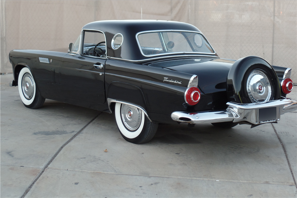 1956 FORD THUNDERBIRD CONVERTIBLE - Rear 3/4 - 189087