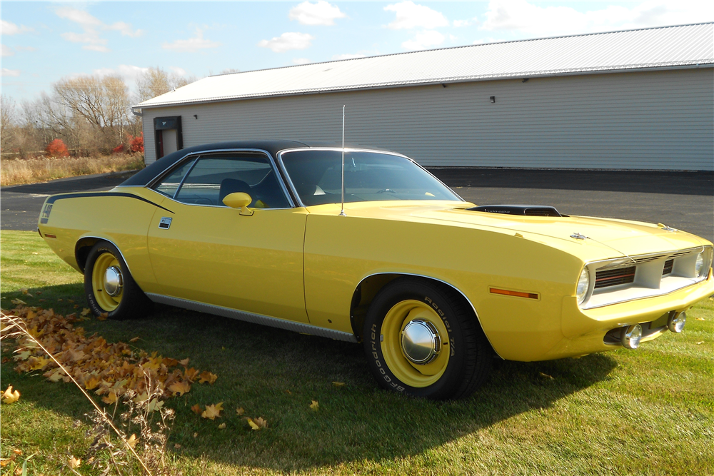1970 PLYMOUTH 'CUDA  - Front 3/4 - 189097