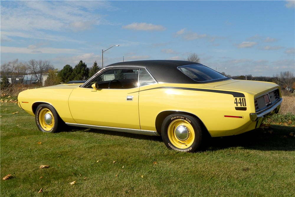 1970 PLYMOUTH 'CUDA  - Rear 3/4 - 189097