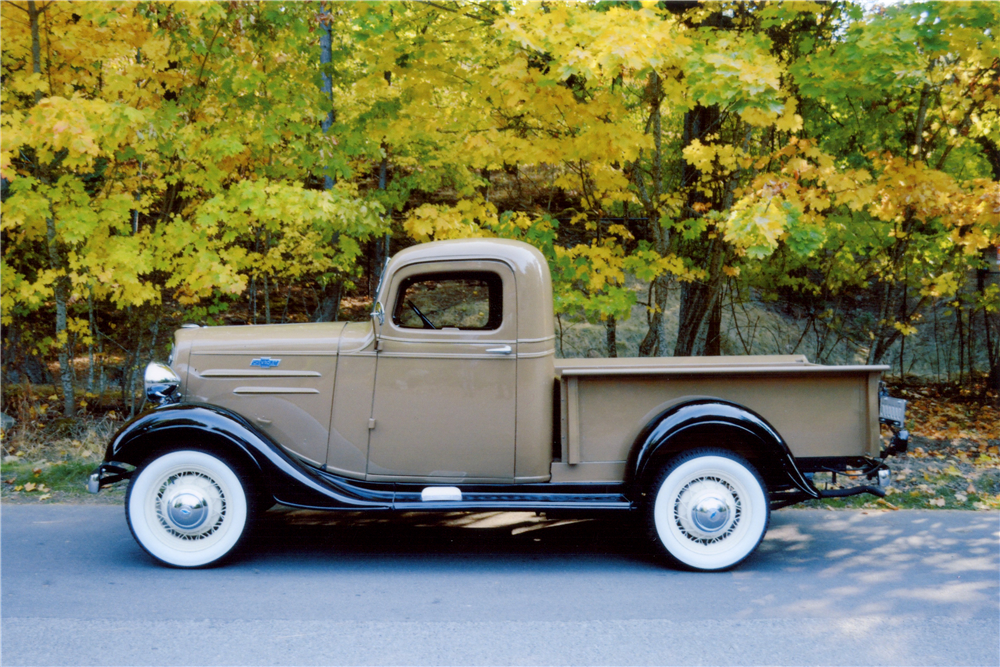 1936 CHEVROLET HALF-TON PICKUP - Side Profile - 189108