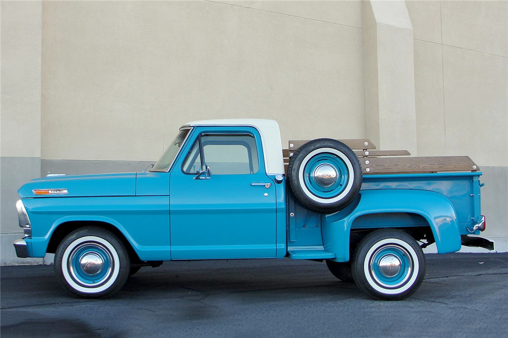1969 FORD F-100 PICKUP - Side Profile - 189109