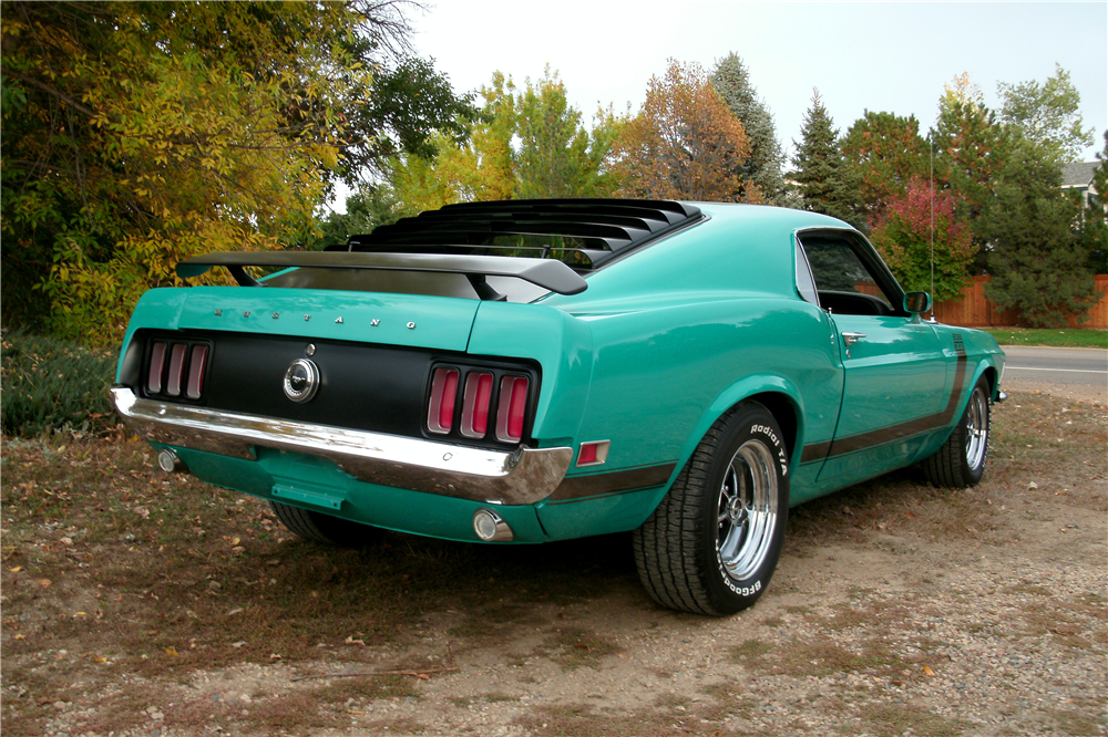 1970 FORD MUSTANG BOSS 302 FASTBACK - Rear 3/4 - 189130
