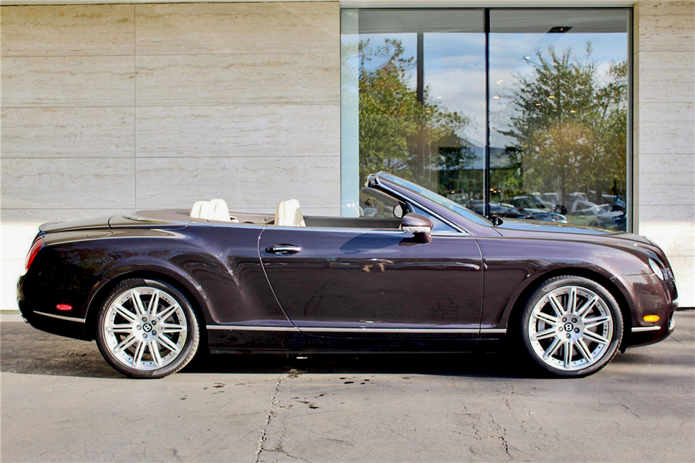 2009 BENTLEY CONTINENTAL GTC CONVERTIBLE - Side Profile - 189142