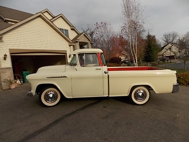 1956 CHEVROLET CAMEO PICKUP - Side Profile - 189147