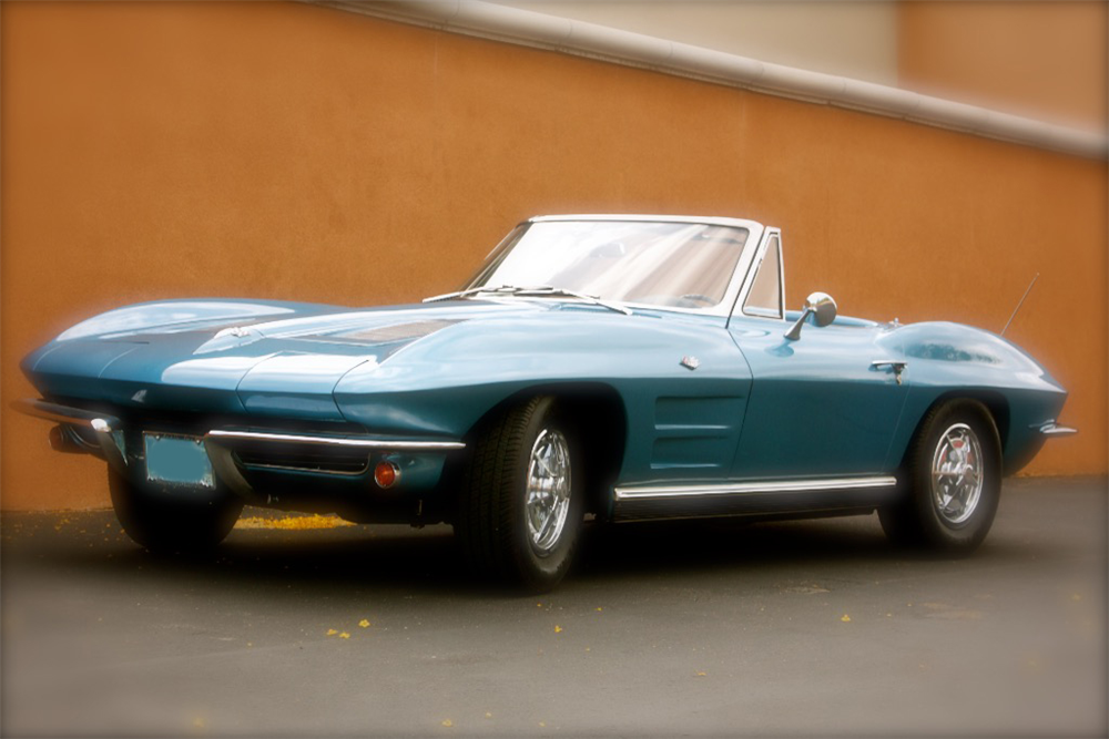 1963 CHEVROLET CORVETTE CONVERTIBLE - Front 3/4 - 189153