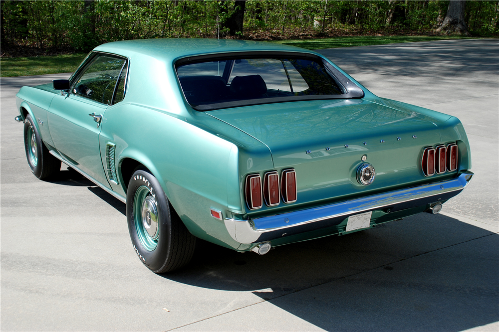 1969 FORD MUSTANG 428 CJ R-CODE - Rear 3/4 - 189157