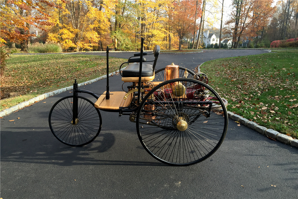 1886 KARL BENZ PATENT MOTOR WAGON RE-CREATION - Side Profile - 189168