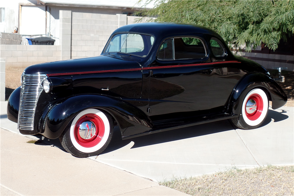 1938 CHEVROLET MASTER CUSTOM COUPE - Front 3/4 - 189169