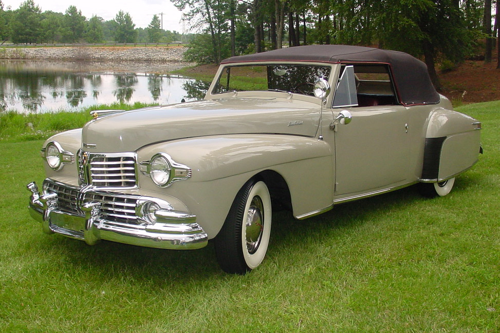 1948 LINCOLN CONTINENTAL CONVERTIBLE - Front 3/4 - 189185