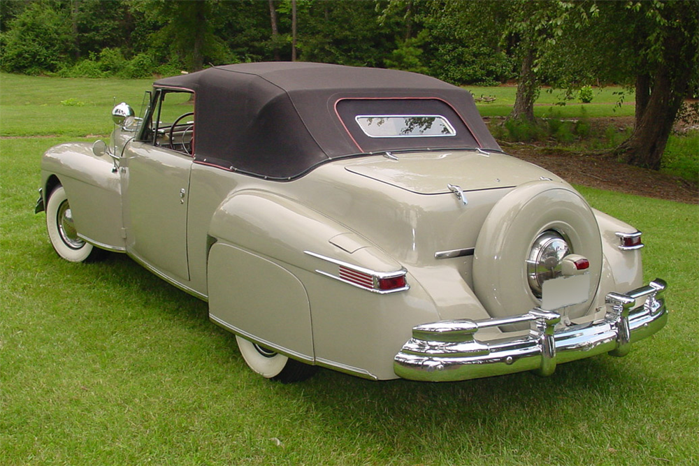 1948 LINCOLN CONTINENTAL CONVERTIBLE - Rear 3/4 - 189185