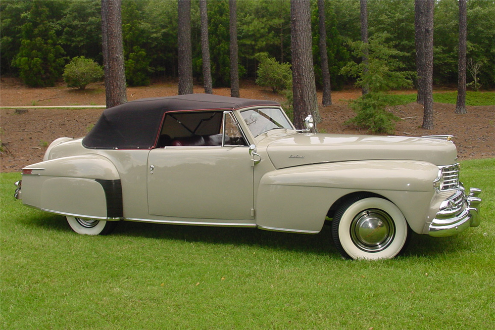 1948 LINCOLN CONTINENTAL CONVERTIBLE - Side Profile - 189185