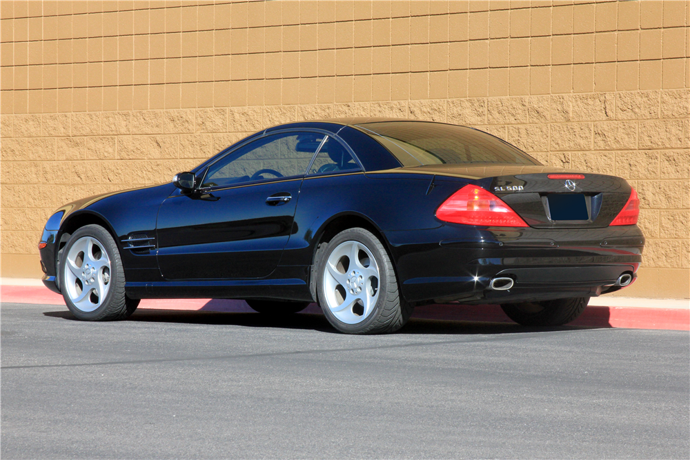 2005 MERCEDES-BENZ SL500 CONVERTIBLE - Rear 3/4 - 189186