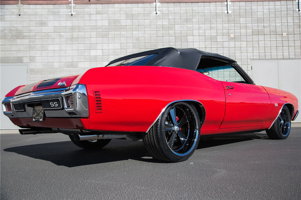 1970 CHEVROLET CHEVELLE SS 454 CUSTOM CONVERTIBLE - Rear 3/4 - 189187