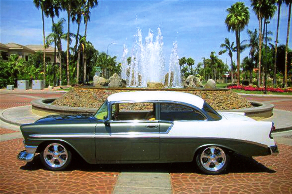 1956 CHEVROLET 210 CUSTOM 2-DOOR POST - Side Profile - 189201
