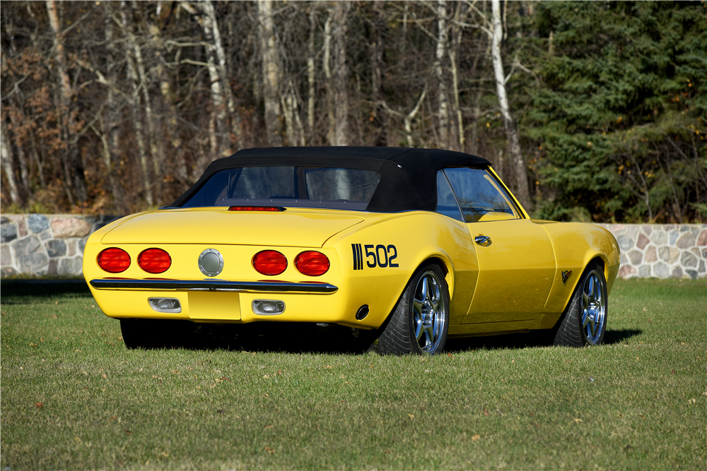1968 CHEVROLET CAMARO CUSTOM CONVERTIBLE - Rear 3/4 - 189215
