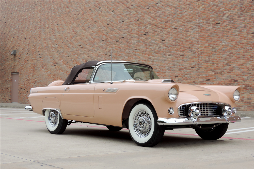 1956 FORD THUNDERBIRD CONVERTIBLE - Front 3/4 - 189216