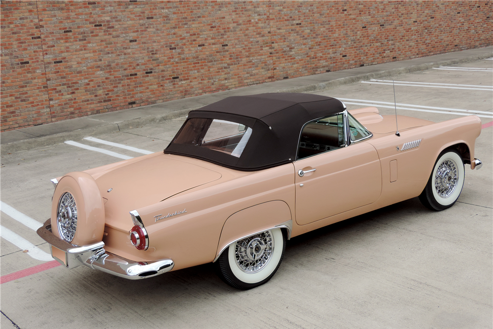 1956 FORD THUNDERBIRD CONVERTIBLE - Rear 3/4 - 189216