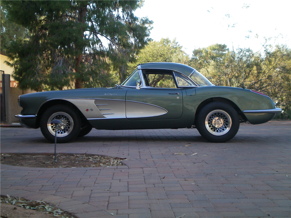 1959 CHEVROLET CORVETTE CONVERTIBLE - Side Profile - 189250
