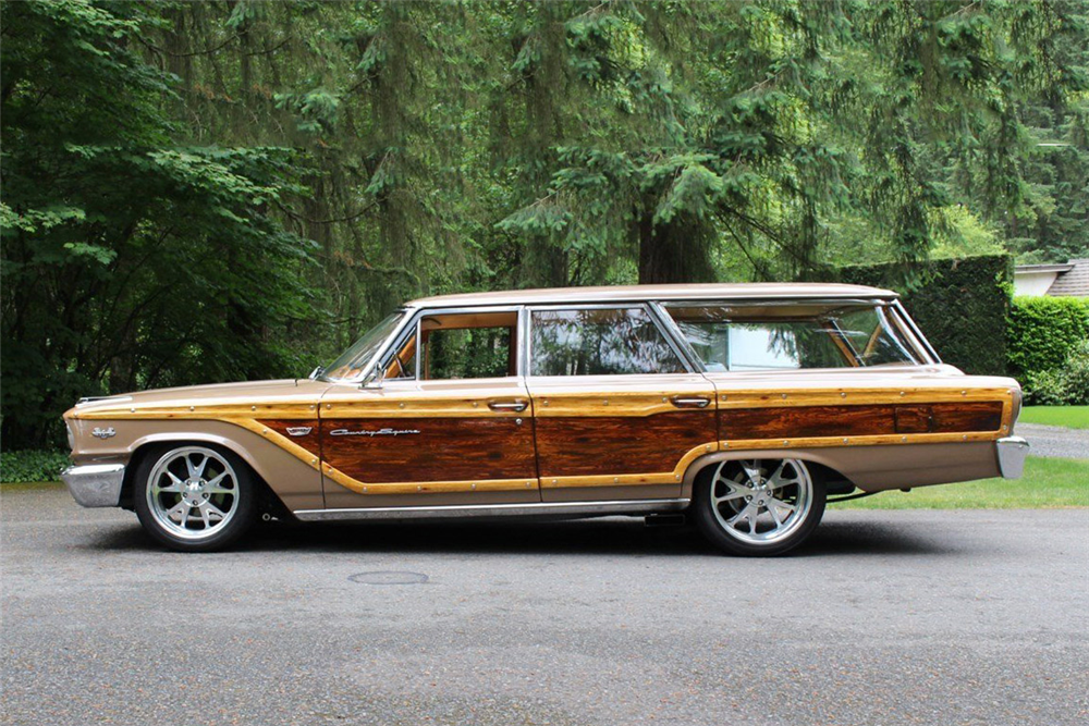 1963 FORD COUNTRY SQUIRE CUSTOM WAGON - Side Profile - 189260