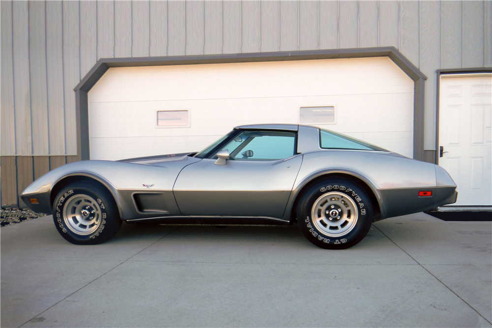 1978 CHEVROLET CORVETTE SILVER ANNIVERSARY COUPE - Side Profile - 189284