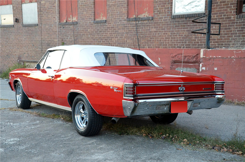 1967 CHEVROLET CHEVELLE SS CONVERTIBLE RE-CREATION - Rear 3/4 - 189293