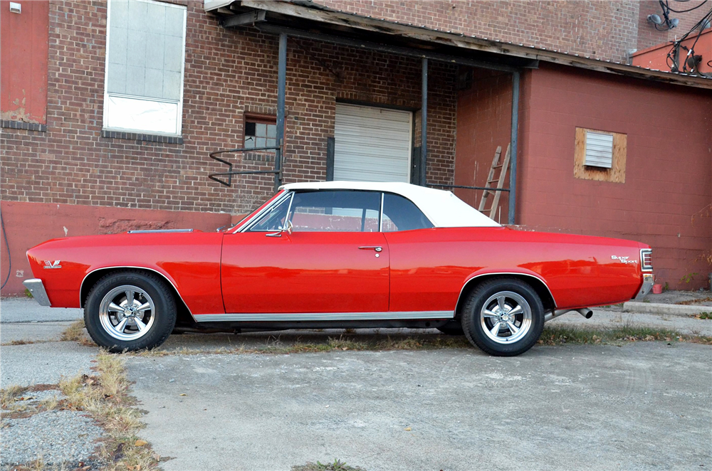 1967 CHEVROLET CHEVELLE SS CONVERTIBLE RE-CREATION - Side Profile - 189293