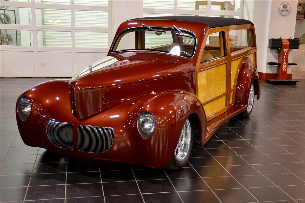 1940 WILLYS CUSTOM WOODY WAGON - Front 3/4 - 189302