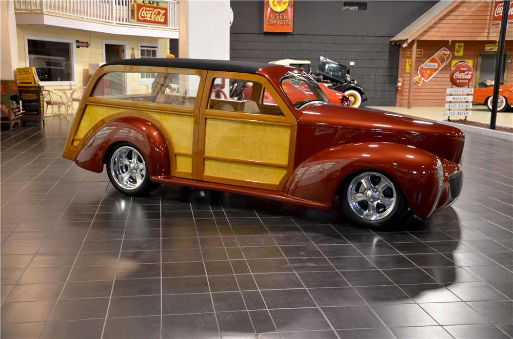 1940 WILLYS CUSTOM WOODY WAGON - Side Profile - 189302