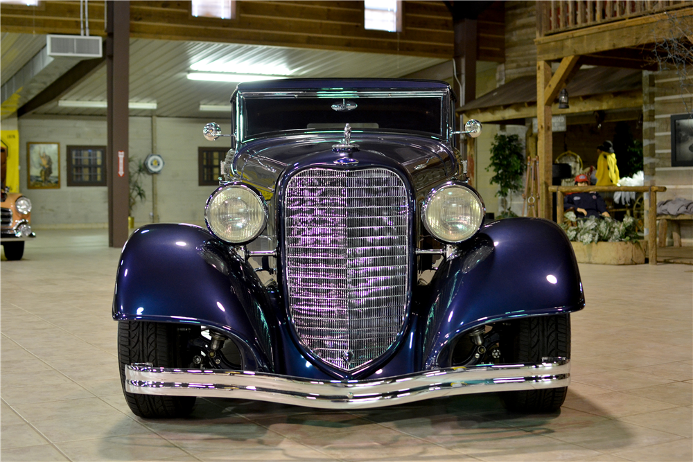 1934 LINCOLN KA CUSTOM CONVERTIBLE SEDAN - Side Profile - 189303