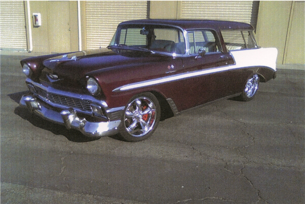 1956 CHEVROLET NOMAD CUSTOM STATION WAGON - Front 3/4 - 189305
