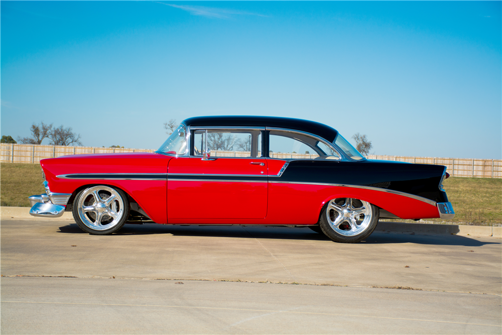 1956 CHEVROLET BEL AIR CUSTOM 2-DOOR POST - Side Profile - 189312