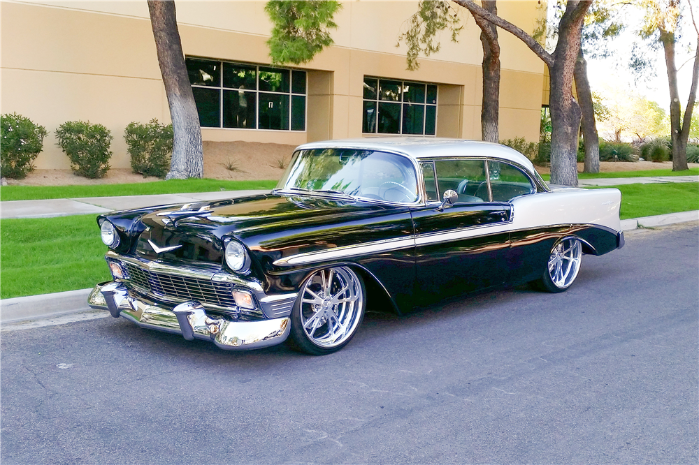 1956 CHEVROLET BEL AIR CUSTOM HARDTOP - Front 3/4 - 189326