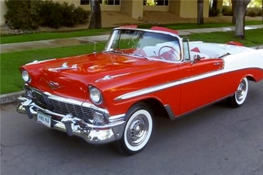 1956 chevrolet bel air convertible 189328. Black Bedroom Furniture Sets. Home Design Ideas