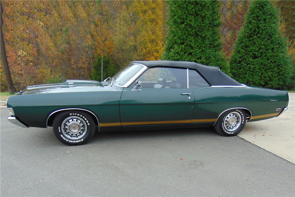 1969 FORD TORINO GT CONVERTIBLE - Side Profile - 189346
