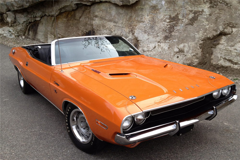 1970 DODGE CHALLENGER R/T CONVERTIBLE - Front 3/4 - 189347