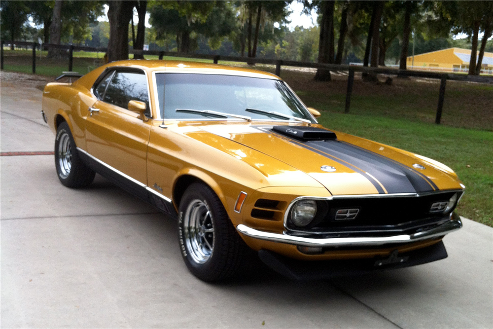 1970 FORD MUSTANG MACH 1 428 SCJ DRAG PACK - Front 3/4 - 189352