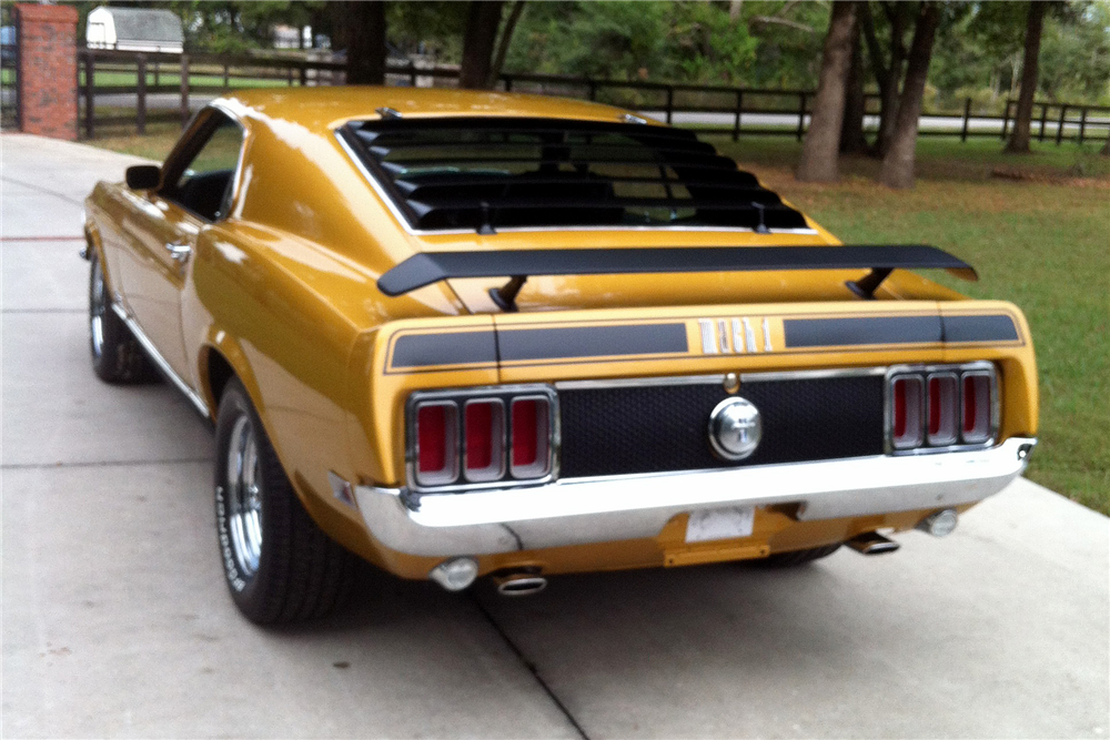 1970 FORD MUSTANG MACH 1 428 SCJ DRAG PACK - Rear 3/4 - 189352