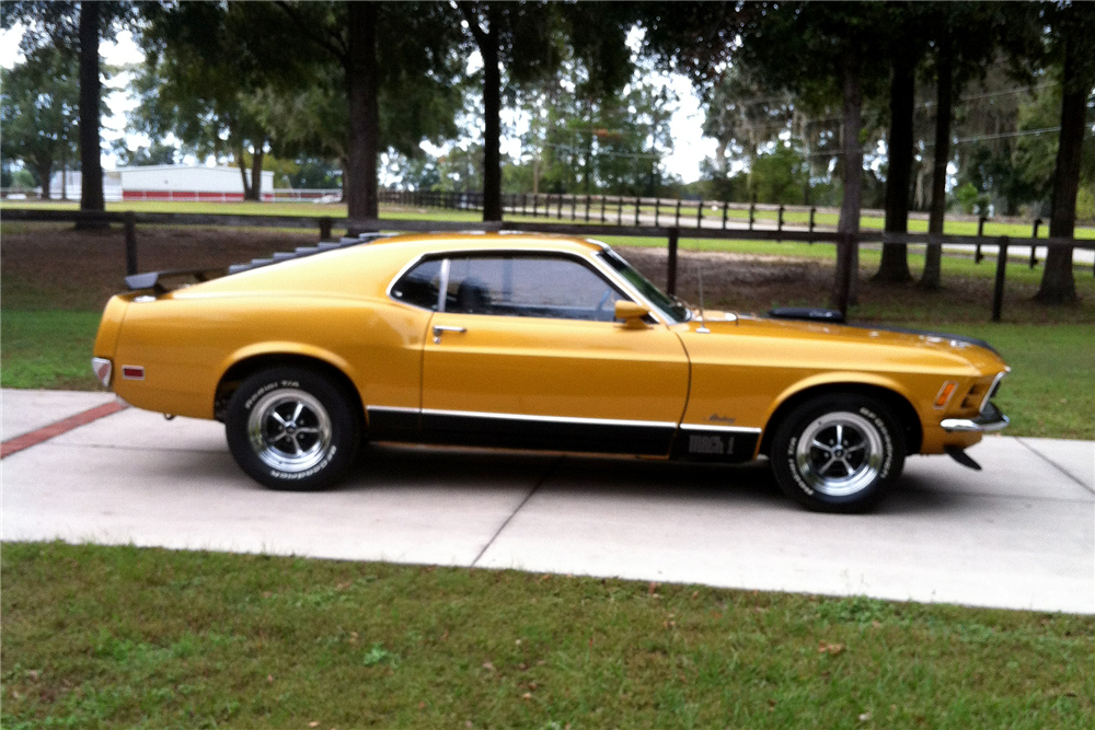 1970 FORD MUSTANG MACH 1 428 SCJ DRAG PACK - Side Profile - 189352