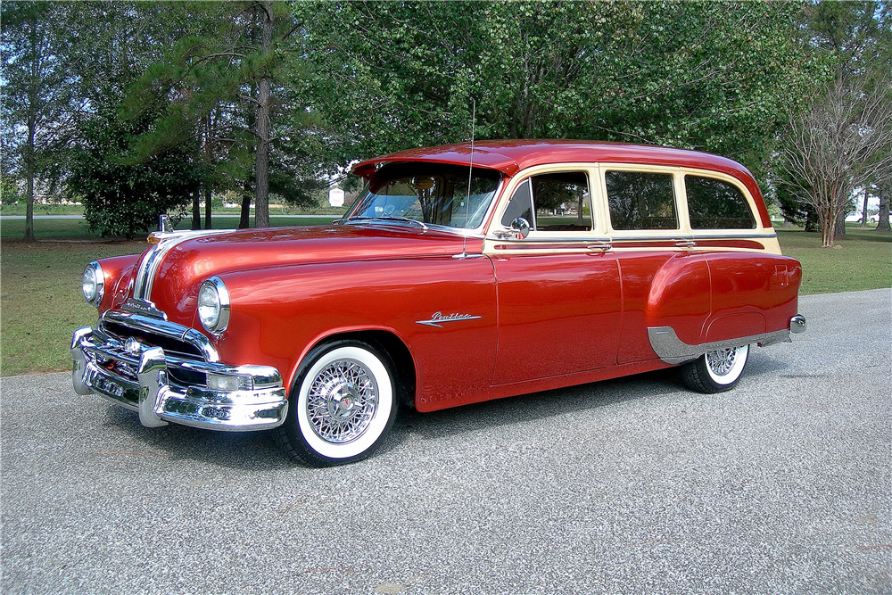 1953 PONTIAC SKY CHIEF CUSTOM WOODY WAGON - Front 3/4 - 189372