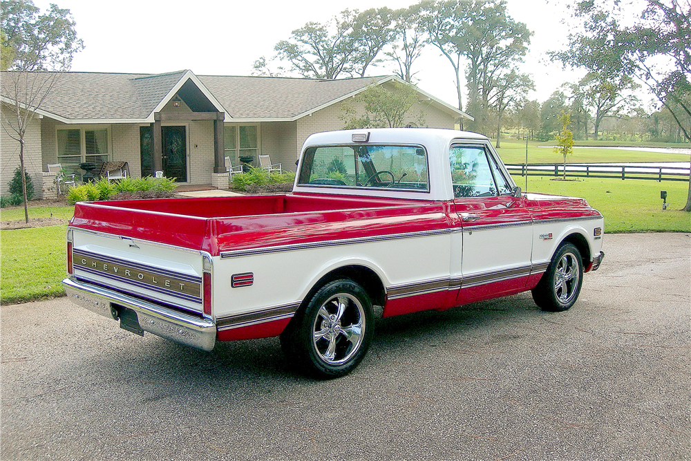 1972 CHEVROLET CHEYENNE SUPER 10 PICKUP - Rear 3/4 - 189374